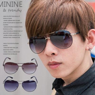 柒零年代【N8650J】都會型男質感皮革鏡架雷朋風太陽眼鏡/墨鏡(8712)Self