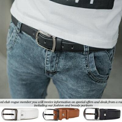 柒零年代【N8702J】穿搭必備立體質感造型車線素色皮帶腰帶(TJ-D07)vigor