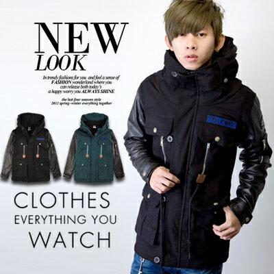 柒零年代【N9042J】重磅厚實皮革袖絨毛內裡高領長版大衣外套(SH9176)Deep