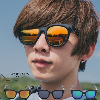 柒零年代【N9178J】金屬V字配飾水銀鏡面太陽眼鏡墨鏡(103)Sun