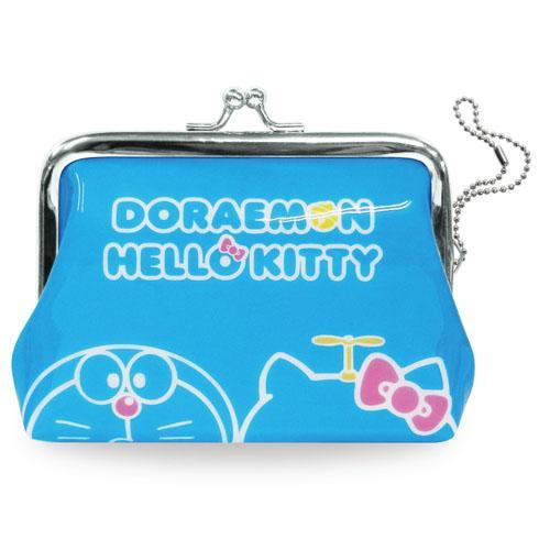 小叮噹&Hello Kitty 蛙嘴式小錢包/788-604