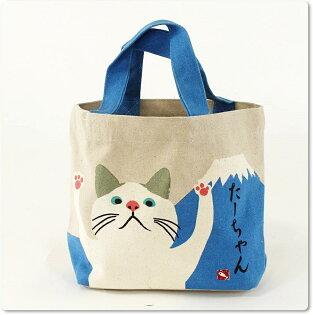 日本WASABI帆布手提包(貓&富士山)