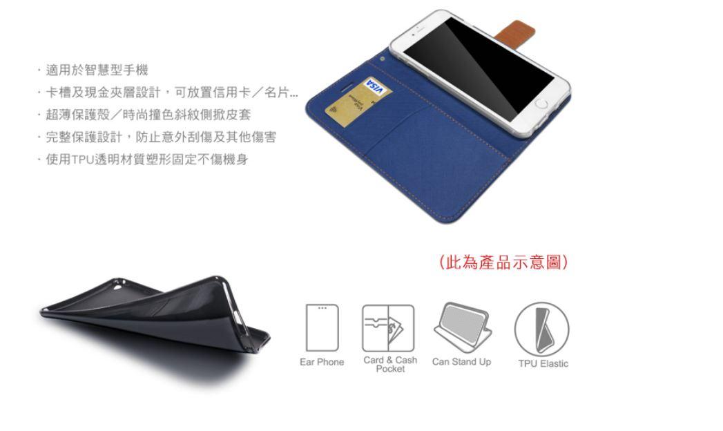 XMART Apple iPad Mini(2019) 斜紋休閒皮套