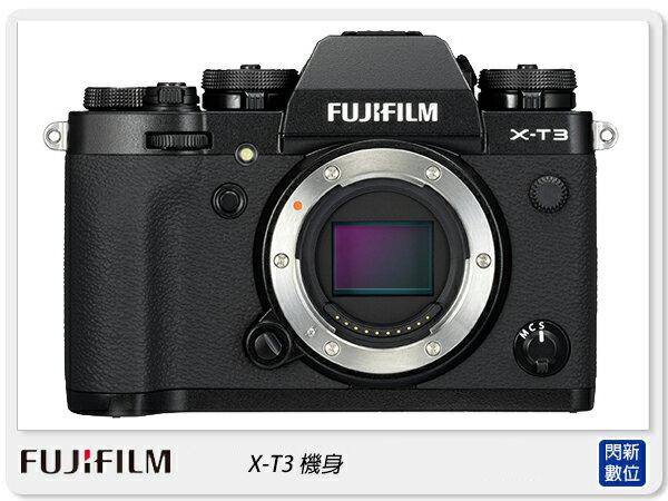 【銀行刷卡金+樂天點數回饋】Fujifilm 富士 X-T3 BODY 單機身(XT3,恆昶公司貨)