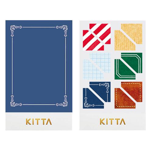 【日本KITTA】隨身攜帶手帳貼SealKITD005復古角框本