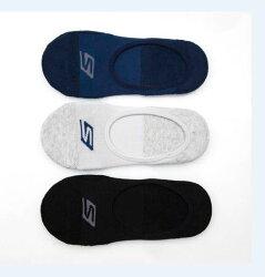 SKECHERS 男款運動船型襪 隱形襪 毛巾布 S101590-460 (一組三雙) [陽光樂活]