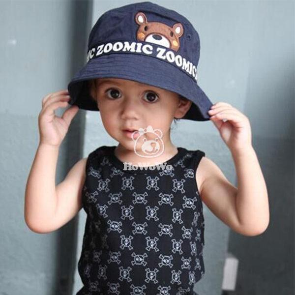 寶寶帽小熊漁夫帽遮陽帽盆帽嬰兒帽帽子防曬必備BU1459好娃娃