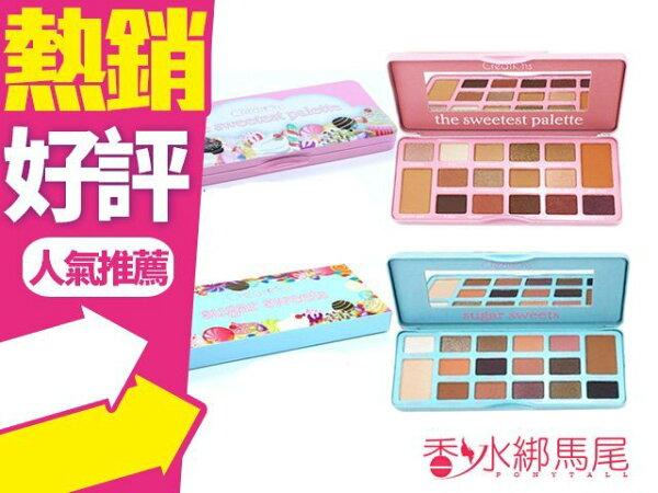 美國平價BeautyCreations16色蜜糖眼影盤25.6g兩款可選文藝復興◐香水綁馬尾◐