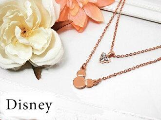【This-This】【Disney】迪士尼80週年紀念項鍊 - 玫瑰金色雙鍊施華洛世奇鑽飾米奇