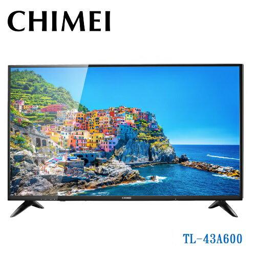 樂天回饋點數10倍CHIMEITL-43A60043型HD液晶顯示器附視訊盒12期零利率奇美TL-43A600免運費公司貨