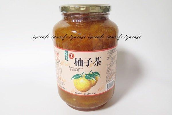 附發票-愛鴨咖啡-韓味不二生柚子茶柚子醬蜂蜜柚子茶2kg