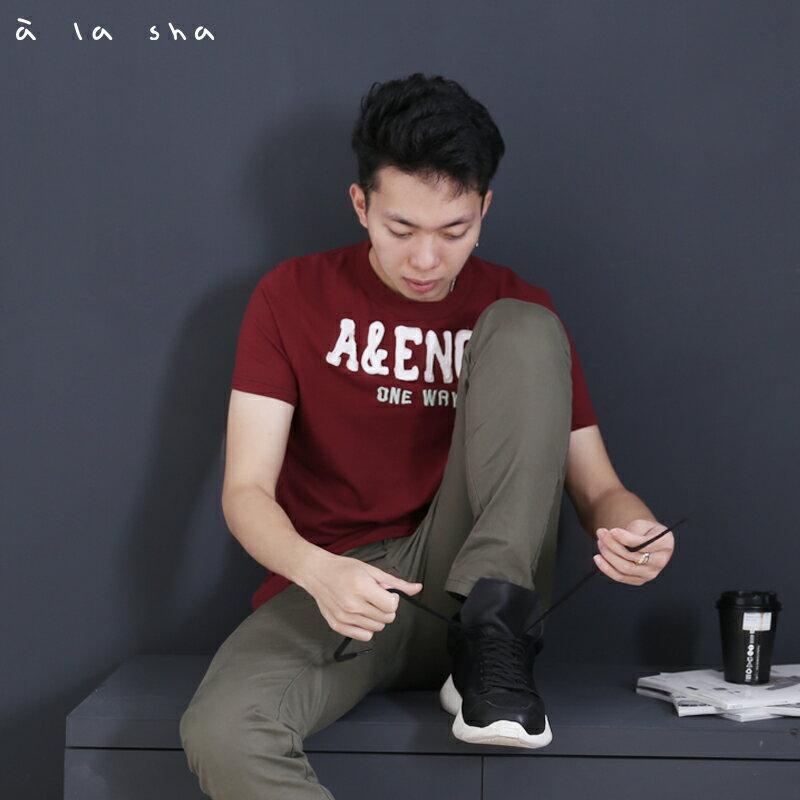 a la sha enco A&ENCO圖圓領短T(男)