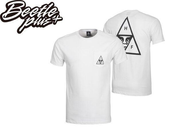 BEETLE HUF X OBEY TRIPLE TRIANGLE WHITE 聯名 口袋 人臉 白 短TEE 163571132WHT OB-384 0