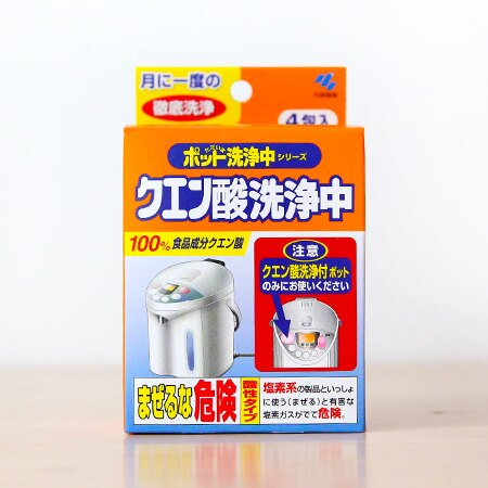 日本 小林製藥 熱水瓶清潔劑 4包入 安全天然 檸檬酸 水垢 熱水器 廚房清潔【N201391】