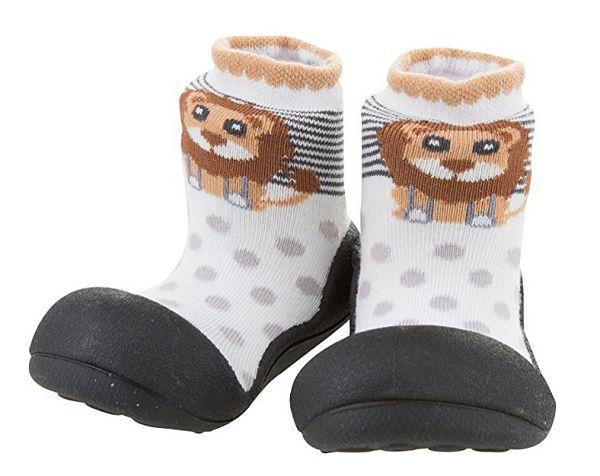 韓國 Attipas 快樂腳襪型學步鞋-黑底獅子好窩生活節 0