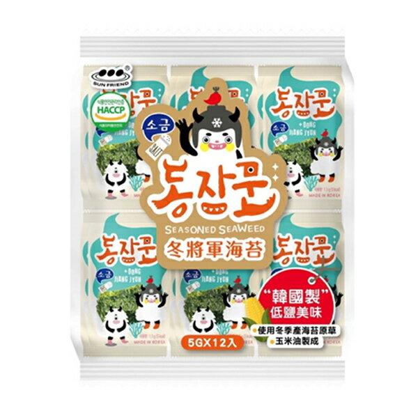 【豆嫂】韓國零食 冬將軍海苔(12入)(原味/辣雞/玉米濃湯)