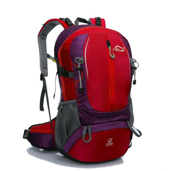 良林皮件:【LocalLion】14.1吋35L城市休閒後背包電腦背包(紅)469RD