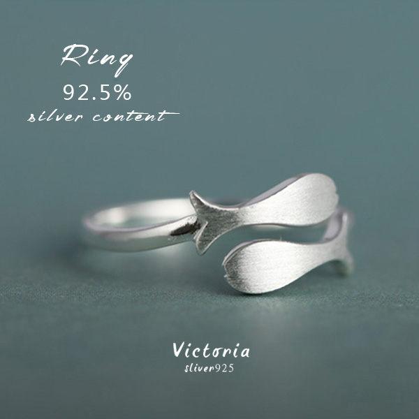 Victoria:S925純銀雙魚戒指-維多利亞170101