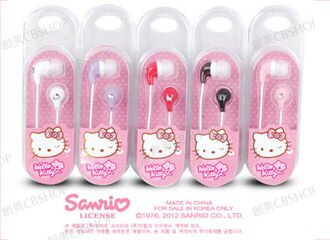 創美[K017] 韓國 HELLO KITTY 彩色 KT 造型 耳機 iPhone 6 6s Note5 Note4 S6 Z5 Z3 M9 A9 626 Zenfone