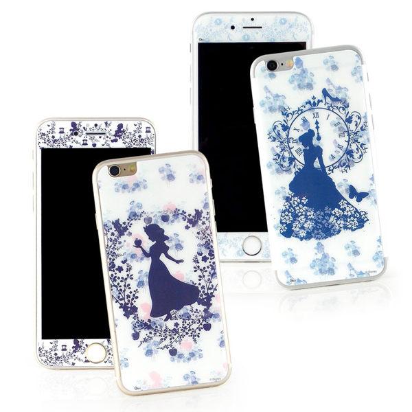 【Disney】iPhone6Plus6sPlus強化玻璃彩繪保護貼-公主