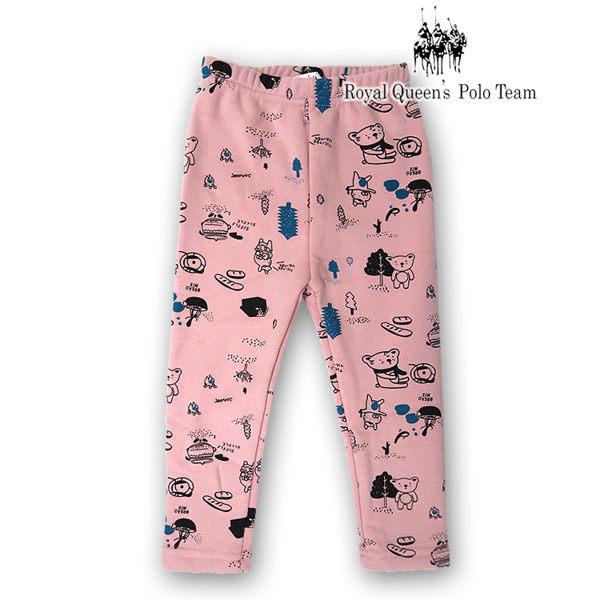 可愛印花保暖刷毛長褲 RQ POLO 小童 款  15025