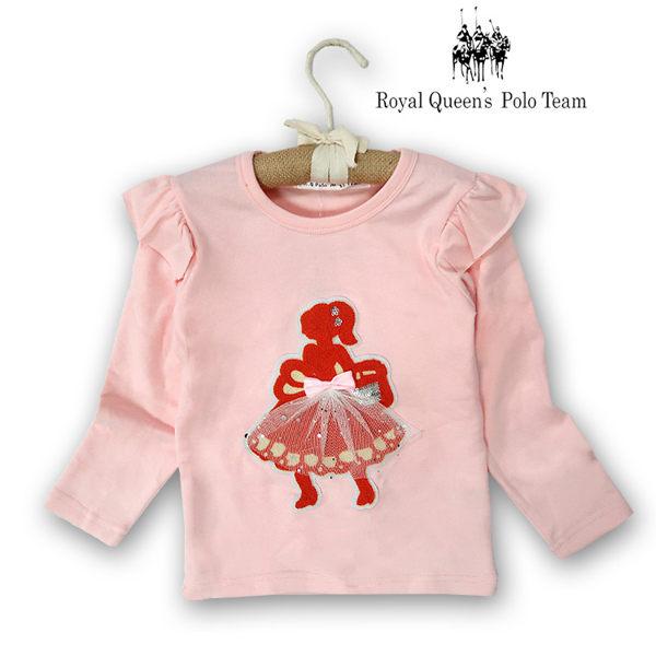 女孩立體圖案粉色長袖棉T 小童 款 RQ POLO  K8688
