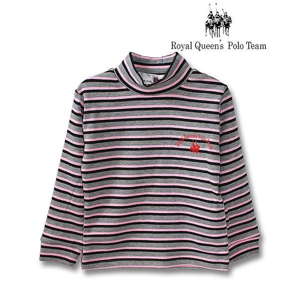 半高領長袖三色條紋上衣RQ POLO 小童 款  16017