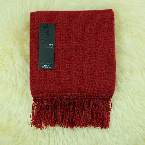 紐西蘭100%純羊毛圍巾*素面深紅色(美麗諾Merino)