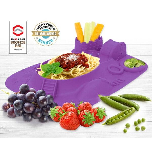 加拿大【MARCUS&MARCUS】動物樂園遊樂造型餐盤-鯨魚(紫)