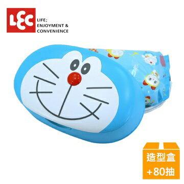 日本【LEC】小叮噹純水99.9%盒裝濕紙巾(造型外盒+80抽x1包)