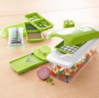 【免運】12合1多功能切菜器 切絲切塊切片削皮具