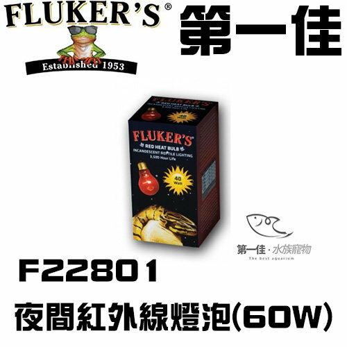 [第一佳 水族寵物] 美國FLUKER`S夜間紅外線燈泡F22801 60W給寵物溫暖的冬天