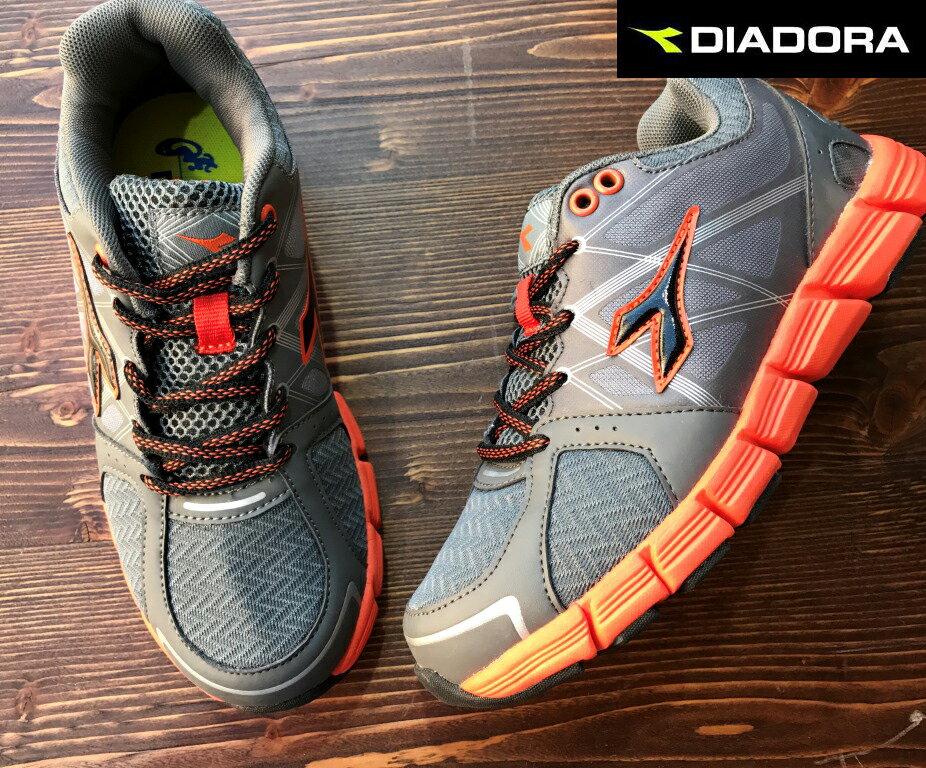 【剪標品出清-23號】義大利國寶鞋-DIADORA迪亞多納 童款輕量運動慢跑鞋