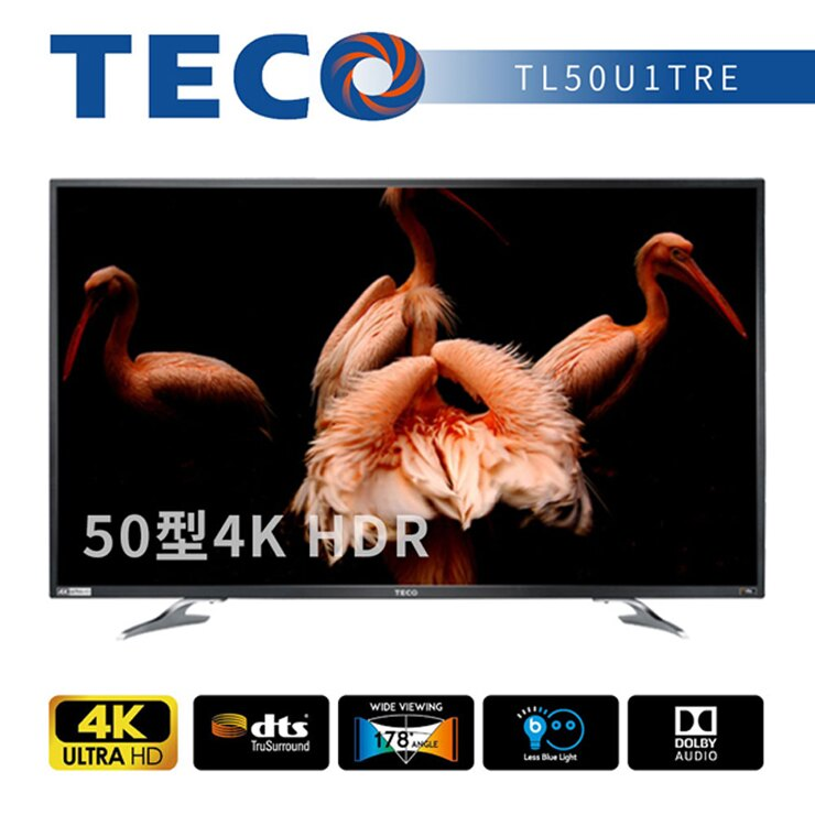 【TECO東元】50吋 真4K Smart液晶顯示器+視訊盒TL50U1TRE