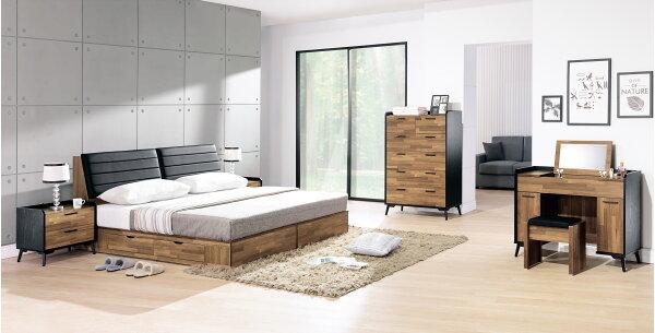 【尚品家具】HY-A70-03科隆5尺四抽收納床底~另有6尺