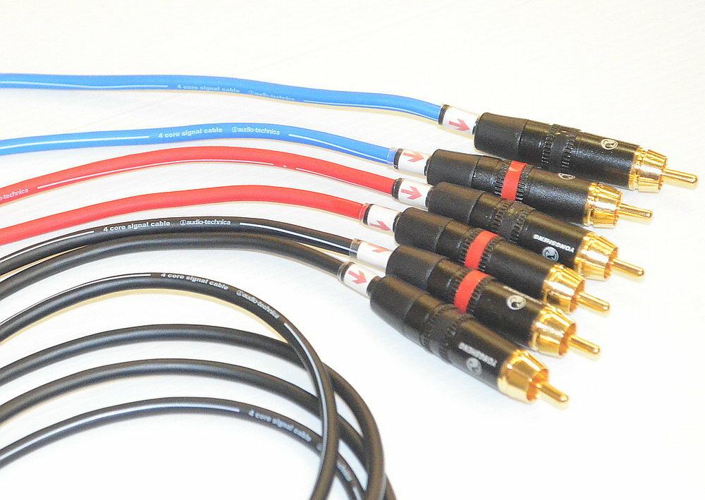 志達電子 CAB030 日本鐵三角 RCA立體(雙線版)訊號線 應用於耳擴(喇叭)及訊源的連接