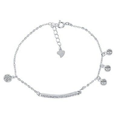 ~925純銀手鍊 鑲鑽手環~ 細緻甜美氣質情人節生日 女飾品73dl68~ ~~米蘭 ~