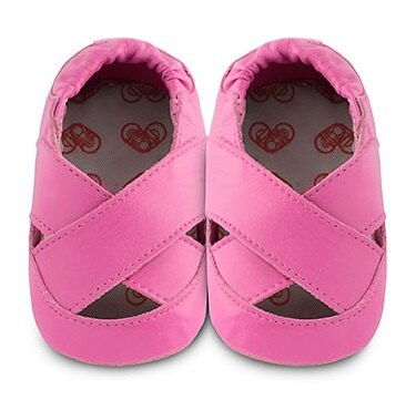 【HELLA 媽咪寶貝】英國 shooshoos 安全無毒真皮手工鞋/學步鞋/嬰兒鞋_桃紅芭蕾舞鞋(公司貨)