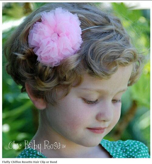 【HELLA 媽咪寶貝】美國 Chic Baby Rose 手工髮夾_玫瑰花款 (9種顏色選擇)
