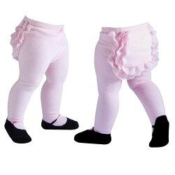 【hella 媽咪寶貝】美國 Jazzy Toes 時尚造型棉襪_粉紅屁屁蕾絲褲襪(JTT-PINK)