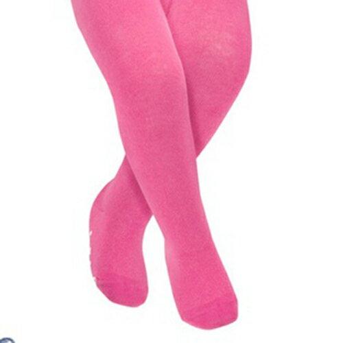 【hella 媽咪寶貝】英國 JoJo Maman BeBe 柔細寶寶兒童內搭褲襪/保暖襪 桃紅(JJT008)