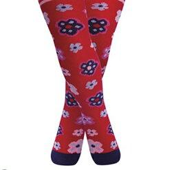 【愛寶貝】英國 JoJo Maman BeBe 花漾嬰幼兒小童內搭褲襪/保暖襪_紅色小花 (JJL017)