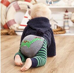 【愛寶貝】英國 JoJo Maman BeBe 圖案嬰幼兒內搭褲/保暖襪_綠色恐龍(JJP003)