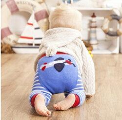 【愛寶貝】英國 JoJo Maman BeBe 圖案嬰幼兒內搭褲/保暖襪_天空藍飛機(JJP005)