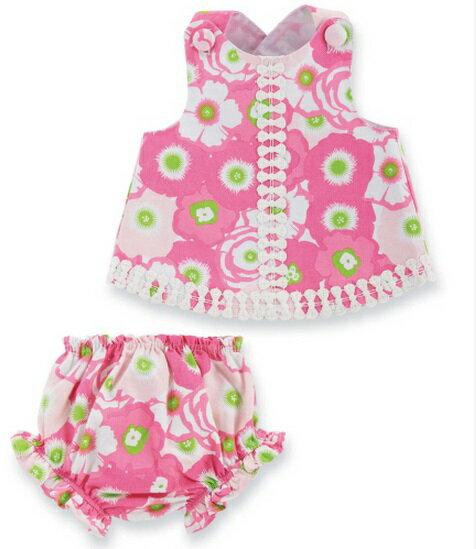 【hella 媽咪寶貝】美國 Mud Pie 時尚嬰幼兒童洋裝與屁屁褲 粉白花朵