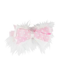 【hella 媽咪寶貝】美國 RuffleButts 小公主甜美髮帶_白粉點點蝴蝶結  (RBHB02-04)