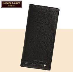 【Roberta Colum】諾貝達 男用皮夾 長夾 專櫃皮夾 進口軟牛皮鉚釘長夾 (黑色23158)【威奇包仔通】