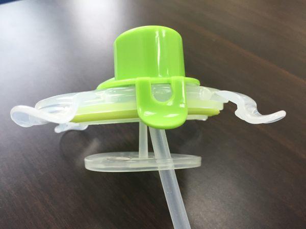 美國 Innobaby 不鏽鋼吸管水壺零件 -上蓋附配件【綠】