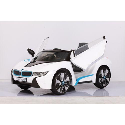 【淘氣寶寶】原廠寶馬BMW I8 雙開門 單驅 兒童電動車(附遙控)(白)W480QG(緩起步)【贈Kids II Oball 洞動足球】