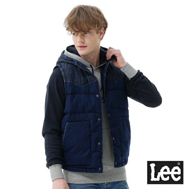 Lee 連帽羽絨背心 / RG-深藍色-男款 1